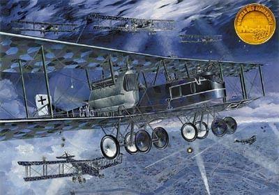 1/72 Gotha G V German Strategic BiPlane Bomber - Roden 16