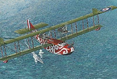 1/72 Felixstowe F2A (Early) Flying Boat BiPlane - Roden 19