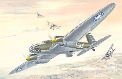 1/72 Heinkel He111A Chinese AF Bomber - Roden 21