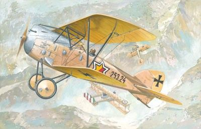 1/72 Albatros D III Oeffag s253 Austro-Hungarian BiPlane Fighter - Roden 26