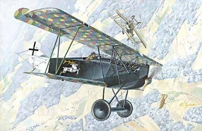 1/72 Fokker D VIIF Alb (Early) WWI German Biplane Fighter - Roden 33