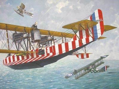 1/72 Felixstowe F2A Eoyal AF Flying Boat BiPlane w/Upper Wing Gunner Position - Roden 47