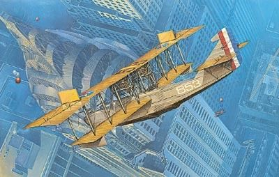 1/72 Curtiss H16 Navy Flying Boat BiPlane - Roden 49