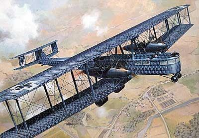 1/72 Zeppelin Staaken R VI Heavy WWI German BiPlane Bomber - Roden 50