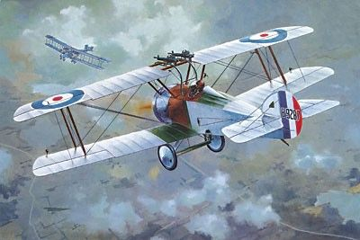 1/72 Sopwith F1/3 Comic Special Version WWII British BiPlane Fighter - Roden 51