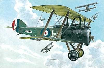 1/72 Sopwith F1 Camel WWI British BiPlane Fighter w/Bentley Engine - Roden 53