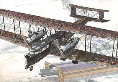 1/72 Zeppelin Staaken R VI (Schutte-Lanz Built R27/16) WWI German BiPlane Bomber - Roden 55
