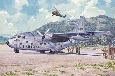 1/72 Fairchild C123B Provider USAF Transport Aircraft - Roden 56