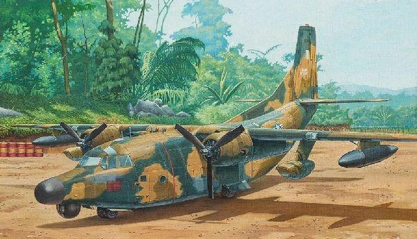 1/72 Fairchild NC/AC123K Black Spot Aircraft - Roden 58