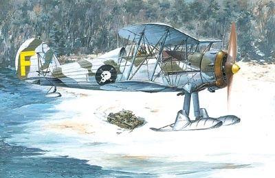 1/48 Gloster Gladiator MkII BiPlane Fighter w/Skis - Roden 401