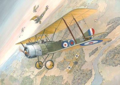 1/48 Sopwith 1-1/2 Strutter WWI British BiPlane Fighter - Roden 402