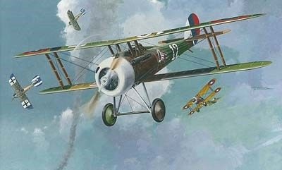 1/48 Nieuport 28c1 WWI French BiPlane Fighter - Roden 403