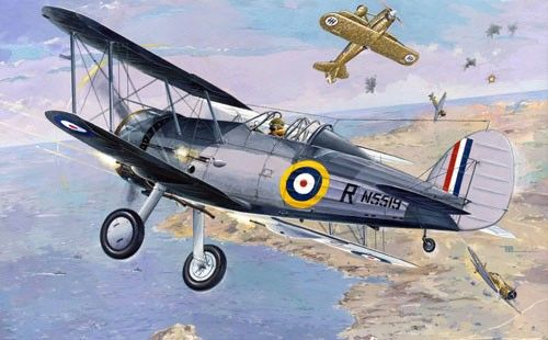 1/48 Gloster Sea Gladiator Royal Navy BiPlane Fighter - Roden 405