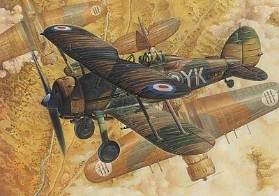1/48 Gloster Gladiator MkI RAF BiPlane Fighter - Roden 408