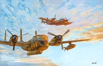 1/48 OV1B Mohawk US Army/Geological Survey Aircraft - Roden 410