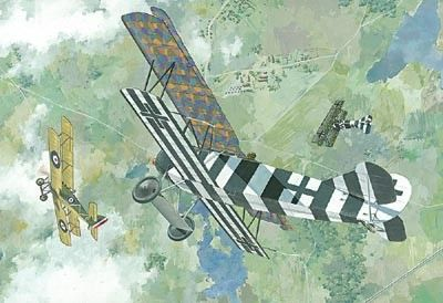 1/48 Fokker D VII (Early) WWI German BiPlane Fighter - Roden 415