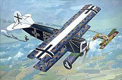 1/48 Fokker D VII (OAW Built Mid) German BiPlane Fighter - Roden 418