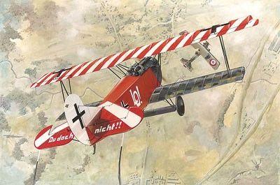 1/48 Fokker D VII (OAW Early) WWI German BiPlane Fighter - Roden 420