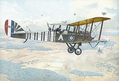 1/48 Airco DeHavilland DH9 WWI BiPlane Bomber - Roden 423