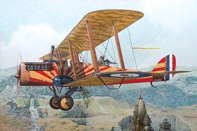 1/48 Airco DeHavilland DH4 WWI British Biplane Fighter w/Puma Engine (D) - Roden 430