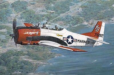 1/48 T28B Trojan USN/USMC Aircraft - Roden 441