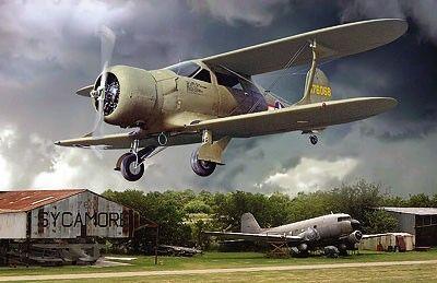 1/48 Beechcraft UC43 Staggerwing WWII USAAF Light Transport BiPlane - Roden 442