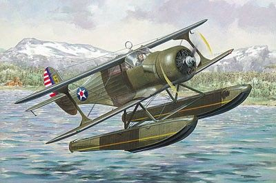 1/48 Beechcraft SD17S Staggerwing WWII USAAF Floatplane - Roden 448
