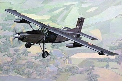 1/48 Pilatus PC6B2/H4 Turbo-Porter French Army Aircraft (D) - Roden 449
