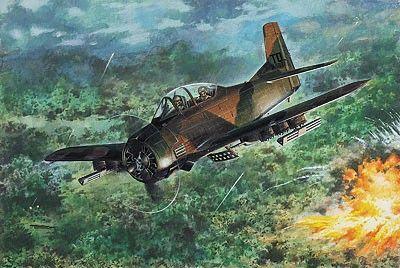 1/48 T28D Trojan USAF Trainer Aircraft - Roden 450