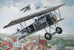 1/32 Fokker D VI WWI German BiPlane Fighter/Interceptor - Roden 603