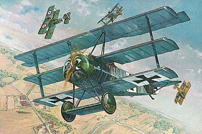 1/32 Fokker FI WWI German Triplane Fighter - Roden 605