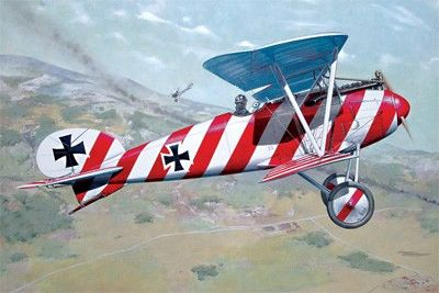 1/32 Albatros D III OAW WWI German BiPlane Fighter - Roden 608