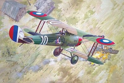 1/32 Nieuport 28c1 WWI French BiPlane Fighter - Roden 616