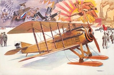 1/32 Spad VII C1 WWI BiPlane Fighter w/Russian Skis - Roden 617