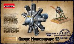 1/32 Gnome Monosoupape 9B WWI Air-Cooled Rotary Aircraft Engine - Roden 621