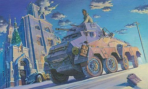 1/72 SdKfz 231 (8 Rad) Schwerer PzSpahwg Armored Vehicle - Roden 702