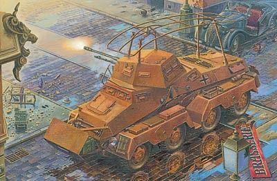 1/72 SdKfz 232 (8-Rad) Schwerer PzSpahwg Heavy Armored Vehicle - Roden 704