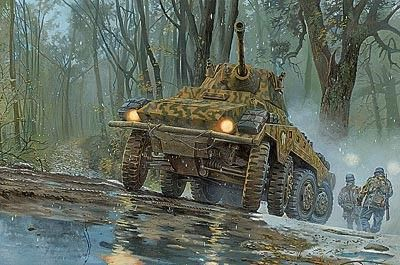 1/72 SdKfz 234/2 Puma Schwerer PzSpahwg Heavy Armored Vehicle - Roden 705