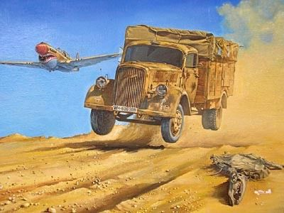 1/72 Opel Blitz (Kfz305) 4x2 WWII German Army Truck - Roden 710