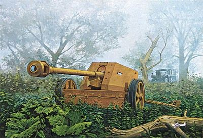 1/72 PaK 40 75mm WWII German Anti-Tank Gun - Roden 711