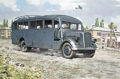 1/72 Opel Blitz 3.6-47 Model W39 Ludewig Early Omnibus - Roden 720