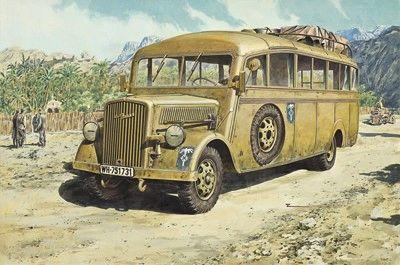 1/72 Opel Blitz 3.6-47 Model W39 Ludewig Late Omnibus - Roden 721