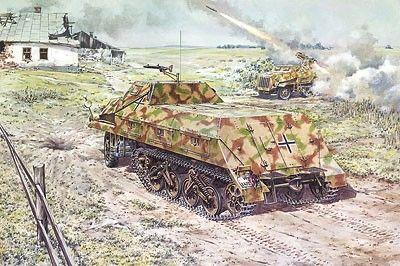 1/72 Mun SdKfz 4/11 Gleissketten Lastkrattwagen 3t Combat Halftrack Vehicle - Roden 722