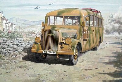 1/72 Opel Blitz W39 Late WWII Service Omibus - Roden 726