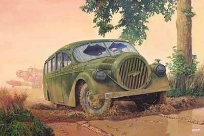 1/72 Opel Blitz Ludewig Aero WWII German Omnibus - Roden 728