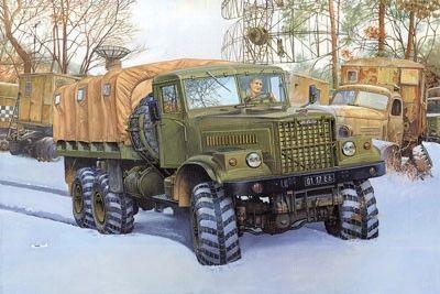 1/35 KrAZ255B Off-Road Transport Military Truck (D) - Roden 805
