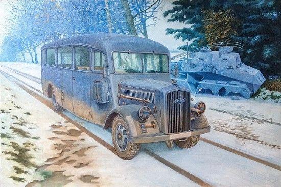 1/35 Opel Blitz 3.6-47 Model W39 Ludewig Early Omnibus - Roden 807