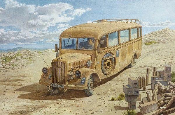 1/35 Opel Blitz 3.6-47 Model W39 Ludewig Late Omnibus - Roden 808