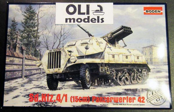 1/72 SdKfz 4/1 Panzerwerfer 42 (Early) Rocket Launcher - Roden 712