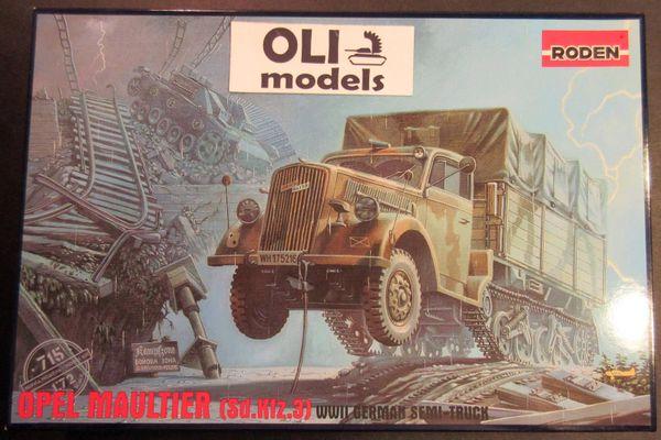 1/72 Opel Maultier (SdKfz 3) WWII German Semi Truck - Roden 715